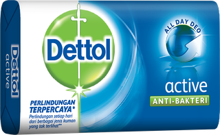 Sabun Anti Bakteri Dettol Active (105g)